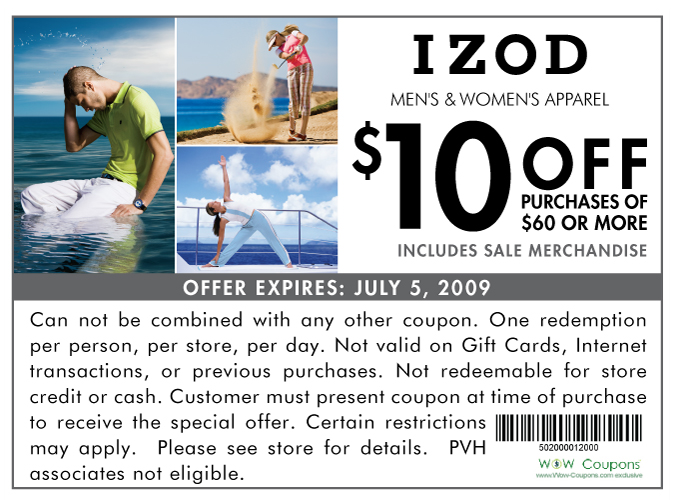babies r us coupons. PRINTABLE IZOD COUPON: $10 off