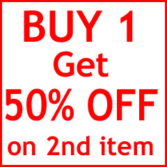 Buy One, Get One 50% off select items