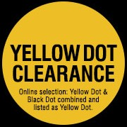 30-50% off Yellow Dot items