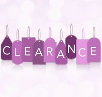 50% off select items - CLERANCE