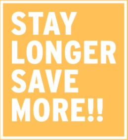 10-25% off select hotels - Stay More, Save More