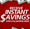 5-25% off select items - current INSTANT Savings