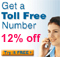 "<font color=royalblue>12% off ""Toll Free Number"" service</font>"